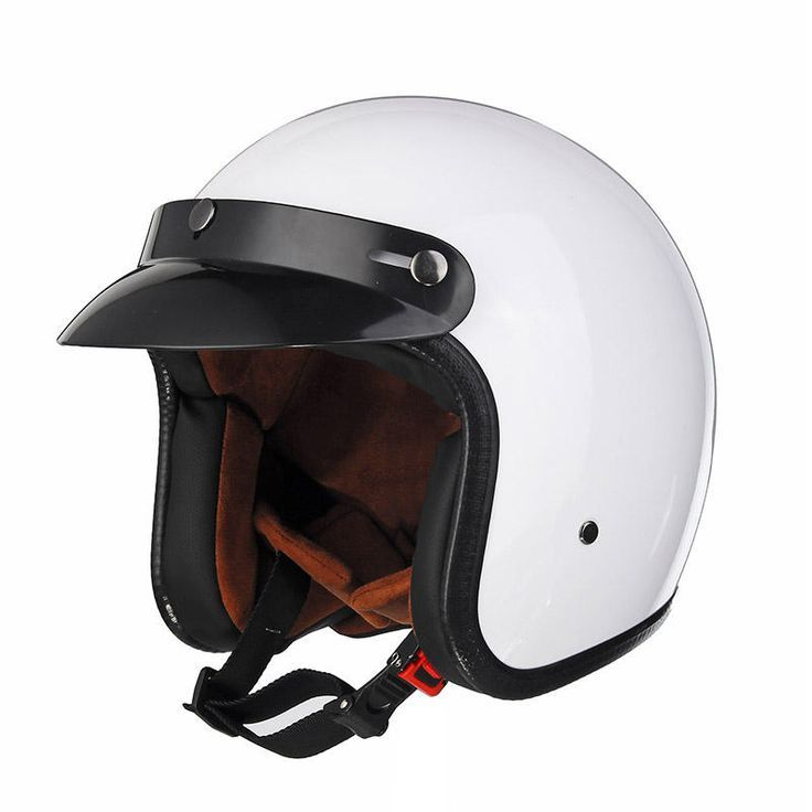 Black White Abs Motorcycle Vintage Helmet Open Face For Harley Helmet White A Abs