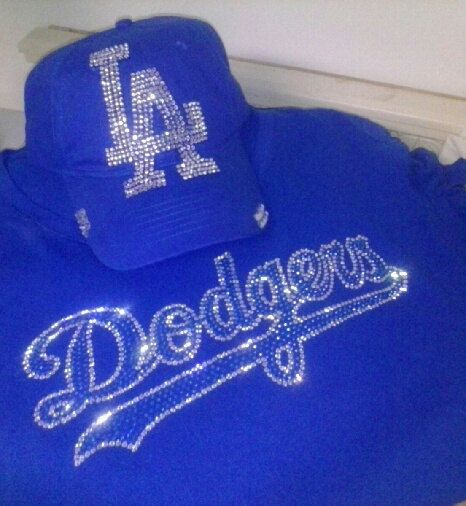 Womens Dodgers Shirt and Cap Set by Littlemissprss3 on Etsy, $50.00