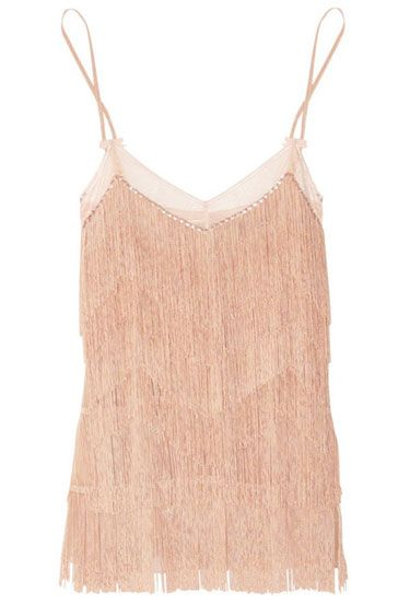 Jenny Packham Sawrivsju crystal-embellished fringed silk chemise