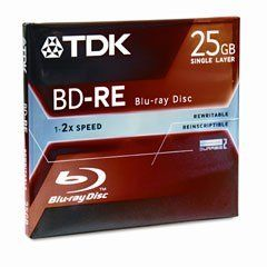TDK Blu-ray Disc 25GB Single Layer - 2X Rewritable by TDK. $33.98. Introducing TDK 25GB BD-RE media, next-generation blue laser rewritable discs offering massive storage capacity and blazingly fast transfer rates. From backing up large data directories to recording HD video, TDK Blu-ray Discs make it possible.