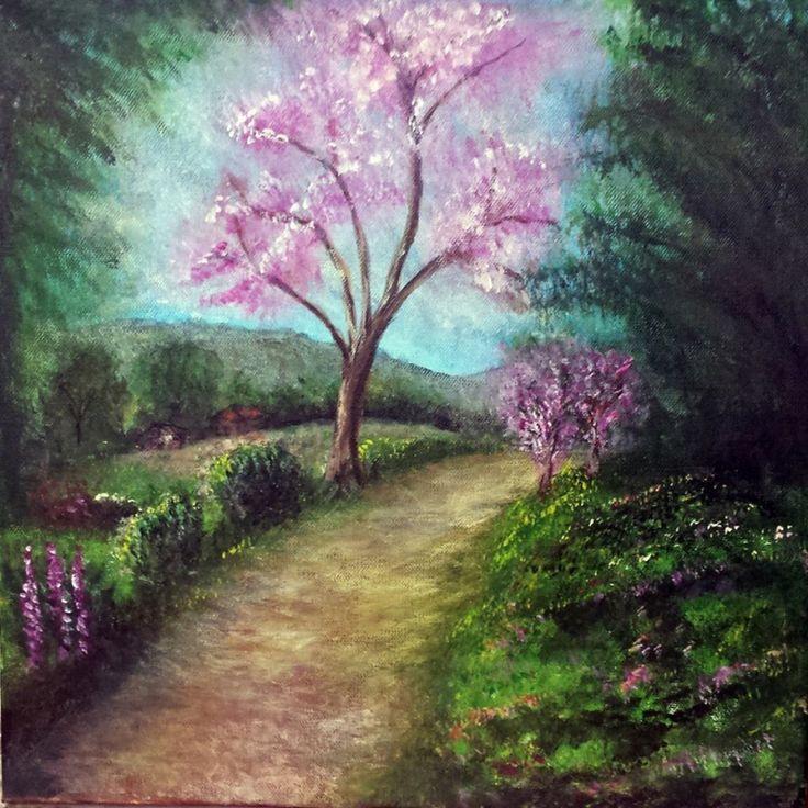 """Acrilico su tela 40x40 opera presentata per il catalogo Art Market shop 2015 Titolo dell' opera """"Profumo di primavera"""""""