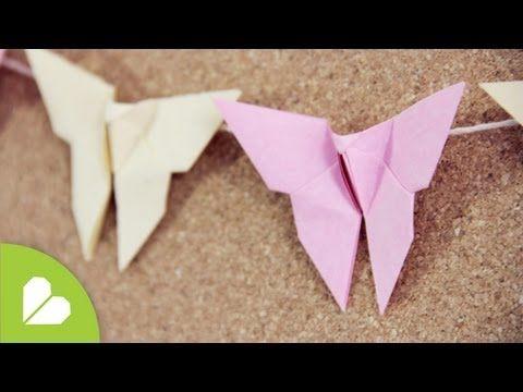 Como hacer Mariposa Origami