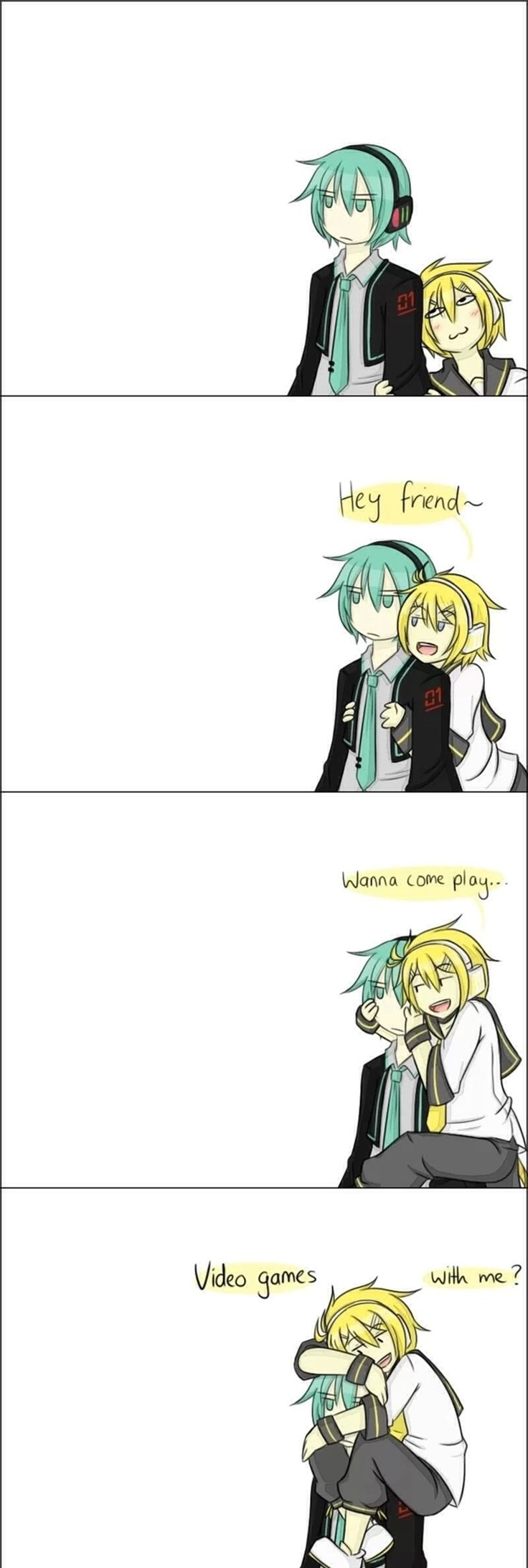 Vocaloid-This is me and my best friend.I could climb on her and she wouldn't care one bit.