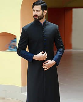 Embroidered Ceremony Sherwani Suit for Mens Sunnyvale California CA USA Sherwani for Groom