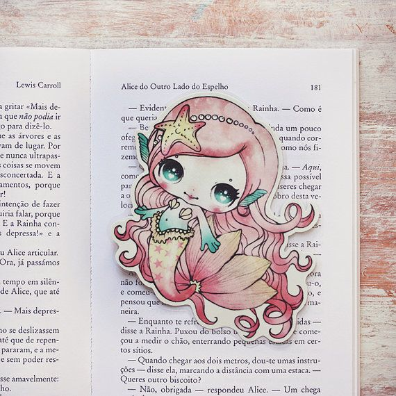 Lolita the mermaid bookmark by ribonitachocolat on Etsy