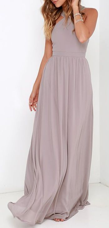 Air of Romance Taupe Maxi Dress