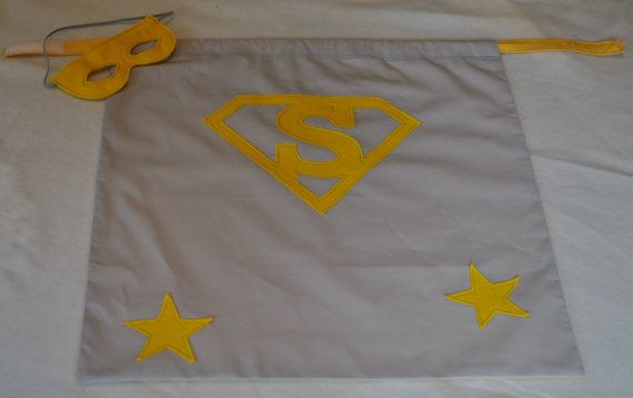Personalized Superhero Cape & Mask, Boys and Girls, Any color possible. Dressing up costume. on Etsy, £19.00