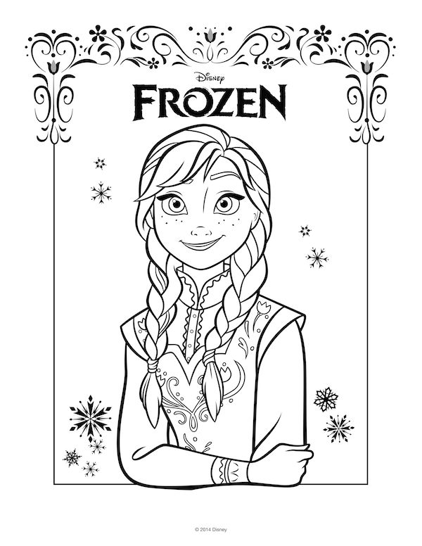 48 best Coloring pages images on Pinterest | Disney frozen, Frozen ...