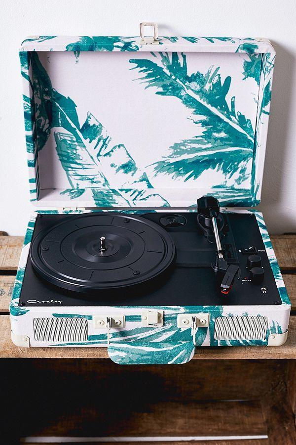 Crosley Cruiser Leaf Canvas Bluetooth Vinyl Record Player Vinyl Record Player Vinyl Records Record Player Urban Outfitters