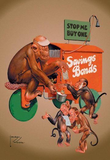 Buy Savings Bonds 12x18 Giclee on canvas