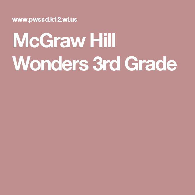 McGraw Hill Wonders 3rd Grade