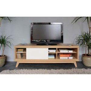 Woody front alb - Comoda TV