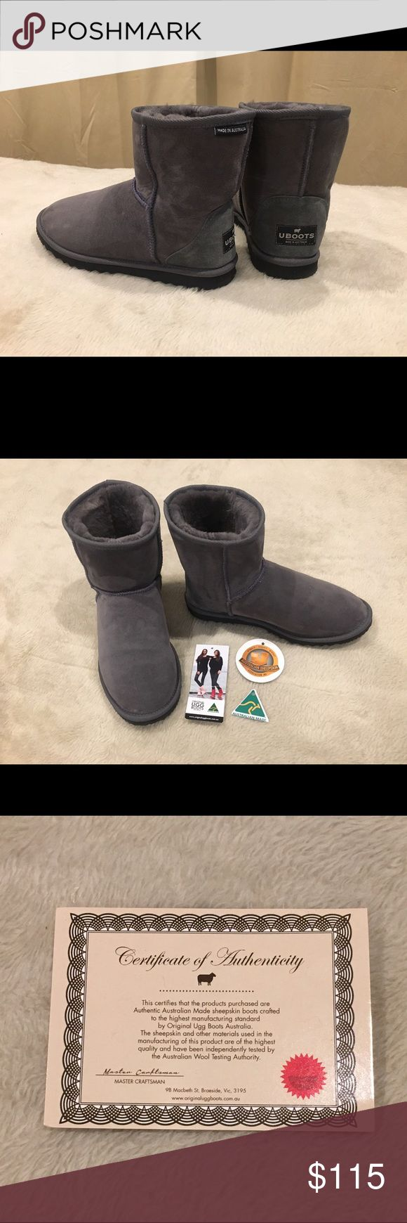 Original Ugg Boots Ultra Short Grey Australian made. Original Ugg Boots. 100% sheepskin. New, worn only once. UGG Shoes Ankle Boots & Booties