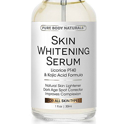 Skin Whitening Lightening Serum - Natural Skin Whitening Cream Treatment - Lighten Dark Spots & Brighten Complexion, Reduce Age Spots, Expert Formula Featuring Vitamin E, Kojic Acid- Safe & Effective *** Want to know more, click on the image.