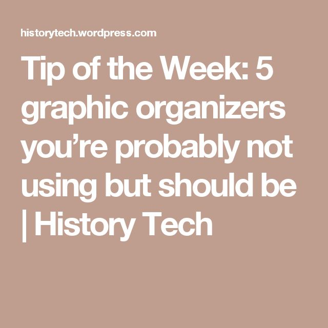 Tip of the Week: 5 graphic organizers you're probably not using but should be | History Tech