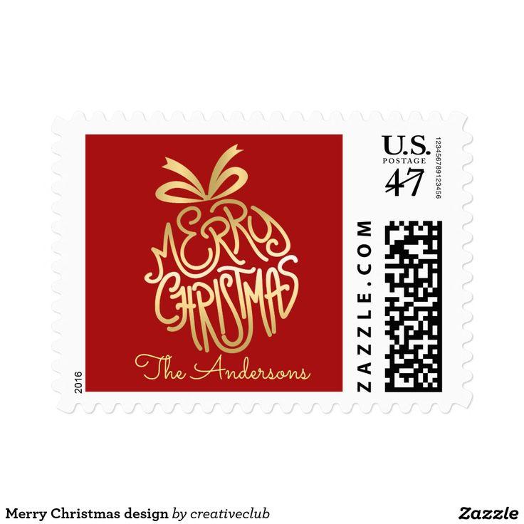 Merry Christmas design #merrychristmas #happyholidays #seasonsgreetings #christmasstamp