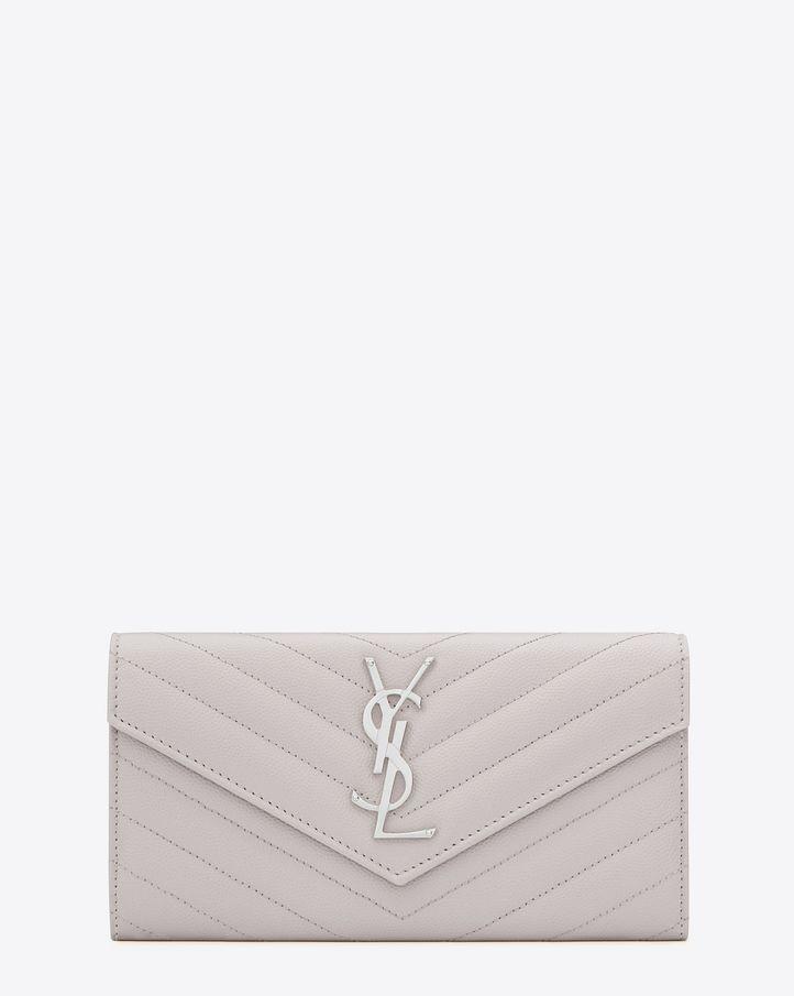 yves saint laurent cluch - Saint Laurent MONOGRAM SAINT LAURENT Envelope Chain Wallet In Dove ...