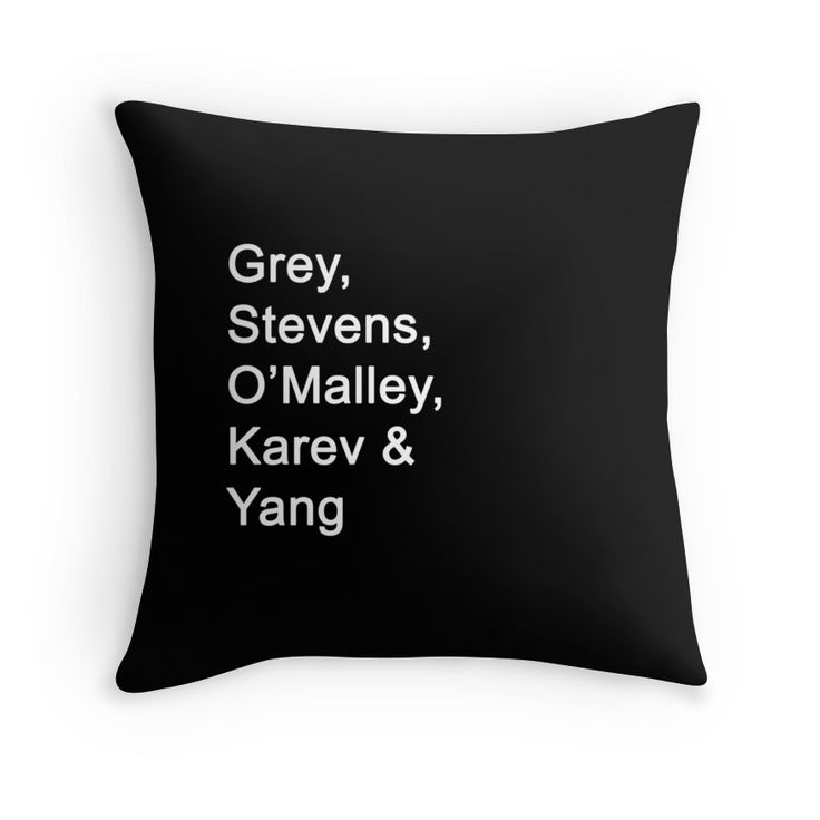 Greys Anatomy Original Character Surnames by bluehorizon