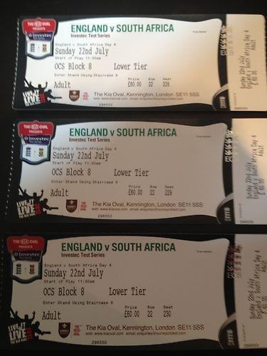 Cricket Tickets England vs South Africa Day 4 Sunday 22nd July