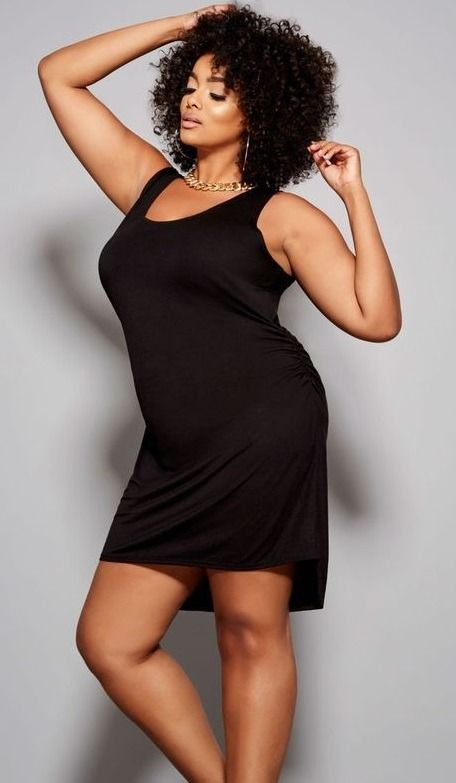 1dd18b96a49 Plus Size Black Tank Dress. Hi-lo. Sleeveless. Scoop neck. Ruched sides.  Super soft and smooth feel  PlusSizeCocktailDresses   BlackCocktailDressPlusSize