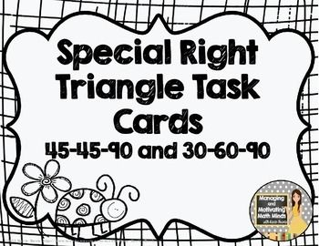 how to solve a special right triangle