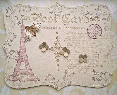 Petite Fleur Paperie: Top Note Postcards from Paris ! Wednesday, 25 April 2012 Artistic Etchings, Top Note die