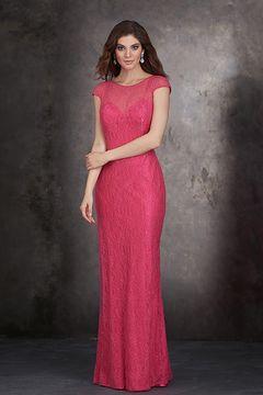 2015 Vestidos de dama de honor Cuchara manga cubierta longitud del piso Cremallera de detrás US$ 139.99 VLPQNQLDT4 - VestidodeVelada.com