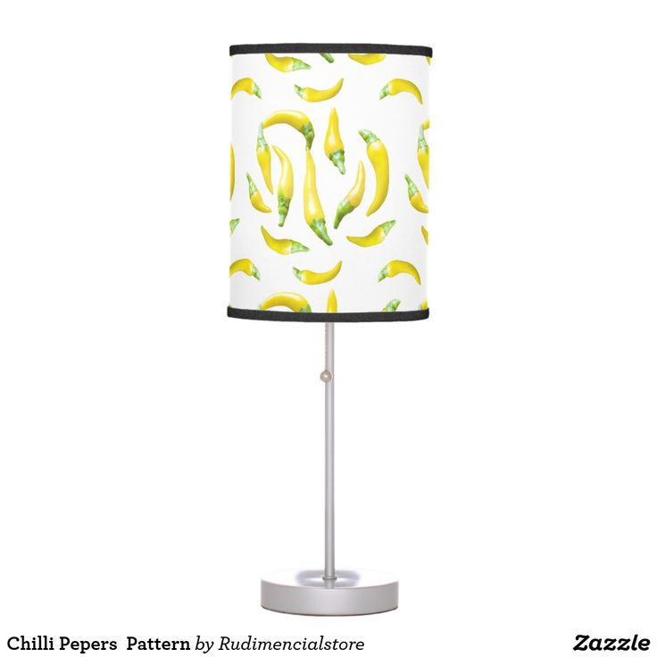Chilli Pepers  Pattern Desk Lamp