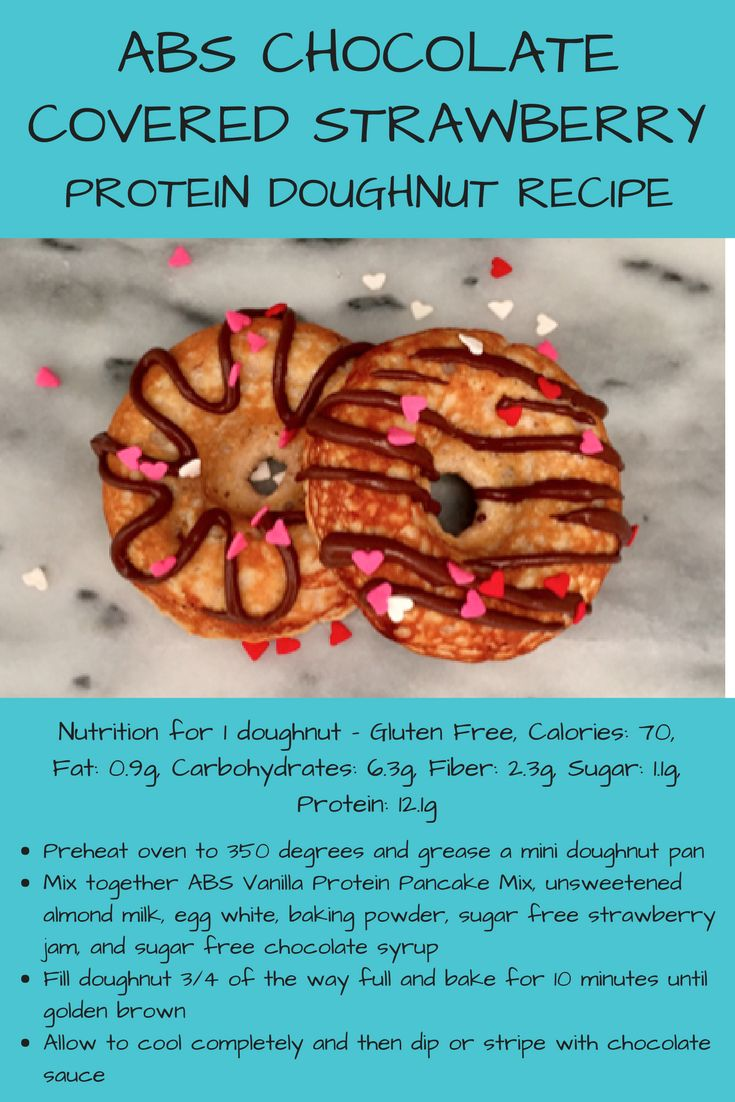 Check out this #chocolate covered #strawberry #protein #doughnut #recipe from ABS Protein Pancakes