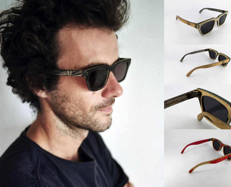 Vuerich B. Sunglasses - originally skated as boards in Barcelona streets - now available at PLUP Planet Upcycling