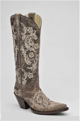 probably too grey to go with my dress Corral Boot® Tall Embroidered Western Boot for Women