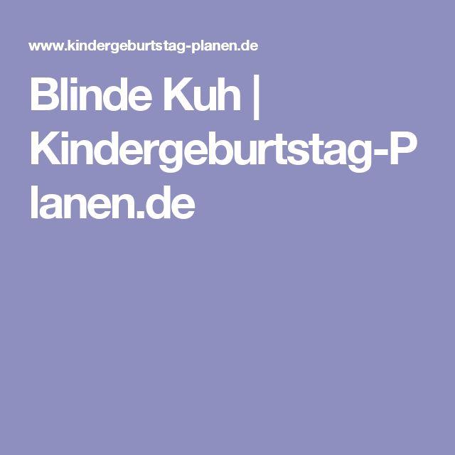 Blinde Kuh | Kindergeburtstag-Planen.de