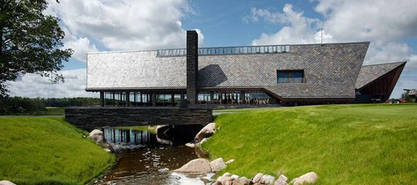 Scandinavian Golf Club by Henning Larsen Architects. #river #roof