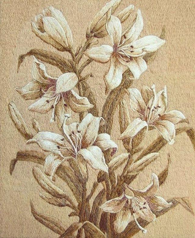 картинки для вышивания лилии