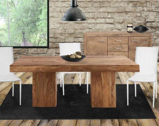 Ensemble de salle à manger de type rustique moderne http://mobilieridem.com/fiche-produit-ensemble-de-salle-a-manger-1461.php