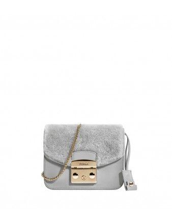 Furla Gray Mini Bag - Shop more budget-friendly finds: http://shop.harpersbazaar.com/in-the-magazine/great-finds