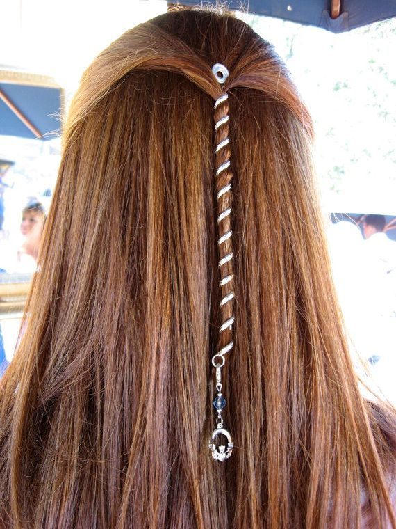 "FREE USA SHIPPING!  6"" Hair Twister Mini -Rainbow, Metal Spiral Hair Wrap, Renaissance, Biker and Fashion Styles"
