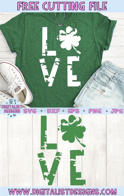 Free Love St. Patrick's Day SVG Cricut design, Vinyl