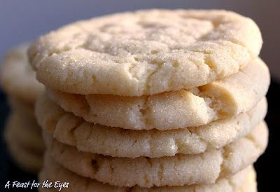 Chewy Sugar Cookies (America's Test Kitchen).  These may look humble, but they are, hands-down, the best sugar cookie that I have ever had.