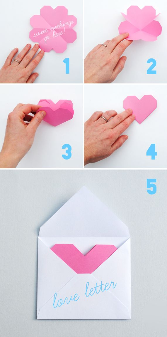 geometric heart: love letters | #DIY and #Crafts