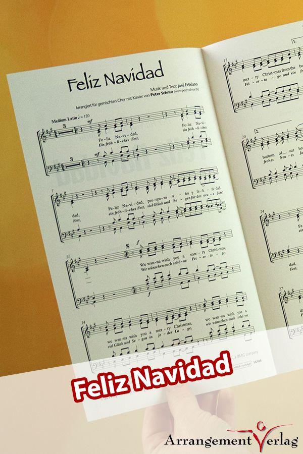 Feliz Navidad für Männerchor ✓ Bekanntes Weihnachtslied mit ...