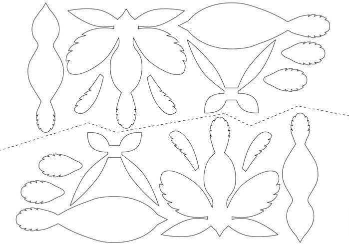 Птички из бумаги на елку + шаблон