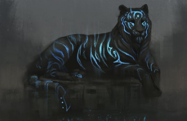 Blue Tiger, Jade Mere on ArtStation at https://www.artstation.com/artwork/D5Jb0