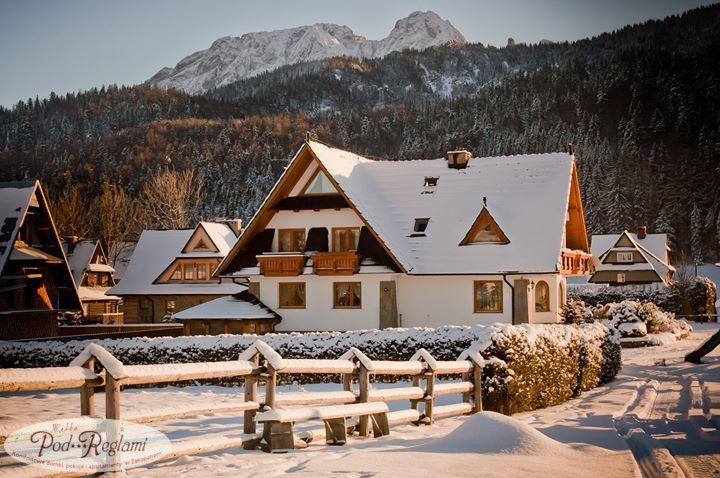Pensjonat zimą http://www.podreglami.pl