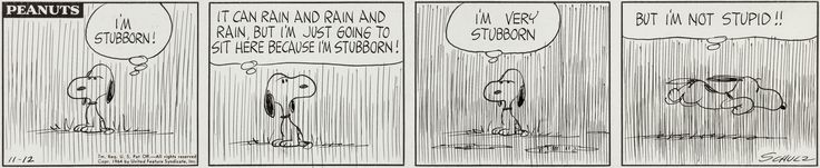 Charles Schulz Peanuts Daily Comic Strip Snoopy Original Art | LotID #99031 | Heritage Auctions