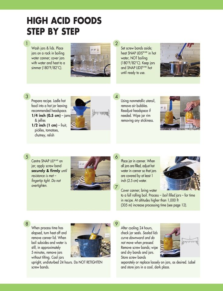 Bernardin's canning instruction for high acid foods