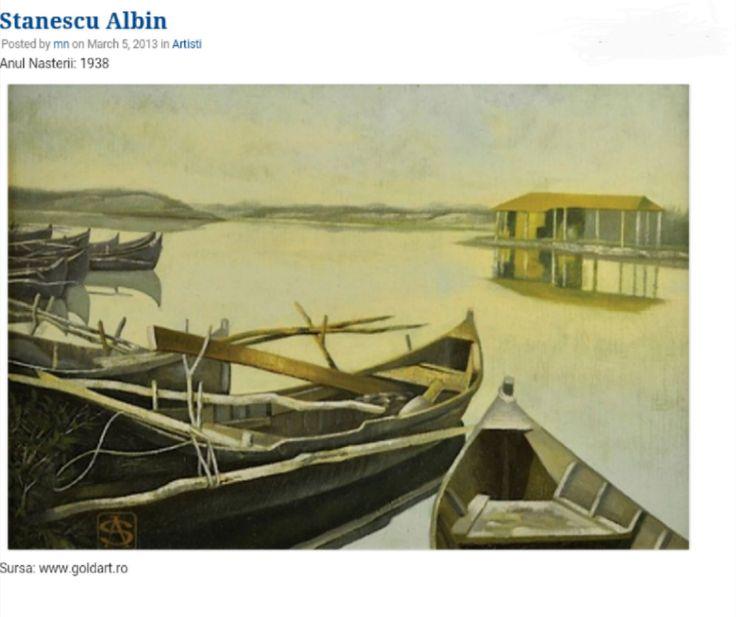 Peisaj cu barci in Delta-Albin Stanescu, Casa de licitatii Goldart