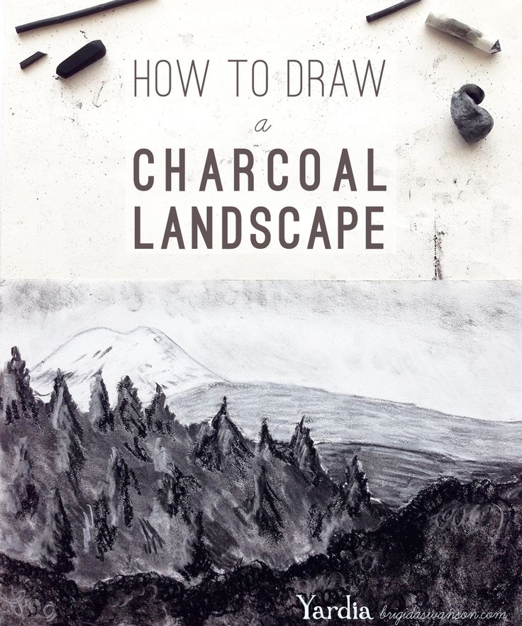 How to Draw a Charcoal Landscape