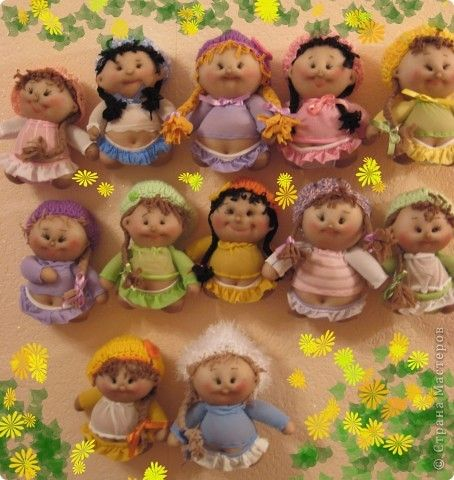 Tutorial to make little stuffed nylon dolls - They look like Cabbage Patch Dolls!
