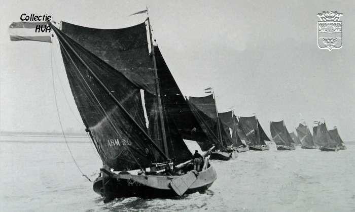 0695: De ARM 20 tijdens de Van Loon zeilwedstrijd bij Veere op 4 augustus 1928